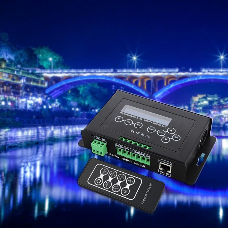 BC 300 DC12V 36V Time programmable led dimmer RGB RGBW Strip Light Controller programmable Timer Light DMX 512 Controller - 4