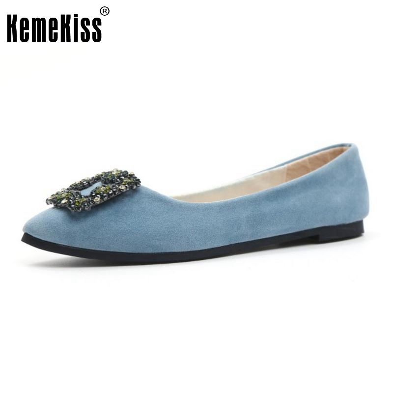 5 Color Women Flats Shoes Fashion Pointed Toe Shoes Woman Beading Casual Flat Ladies High Quality Shoes Footwear Size 35-39 2017 fashion women shoes woman flats high quality casual comfortable pointed toe rubber women flat shoes plus size 35 42 s097
