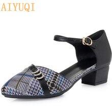 AIYUQI  Sandal women summer 2019 new Women sandals plus size 43 female shoes,luxury fashion Striped dress ladies sandles