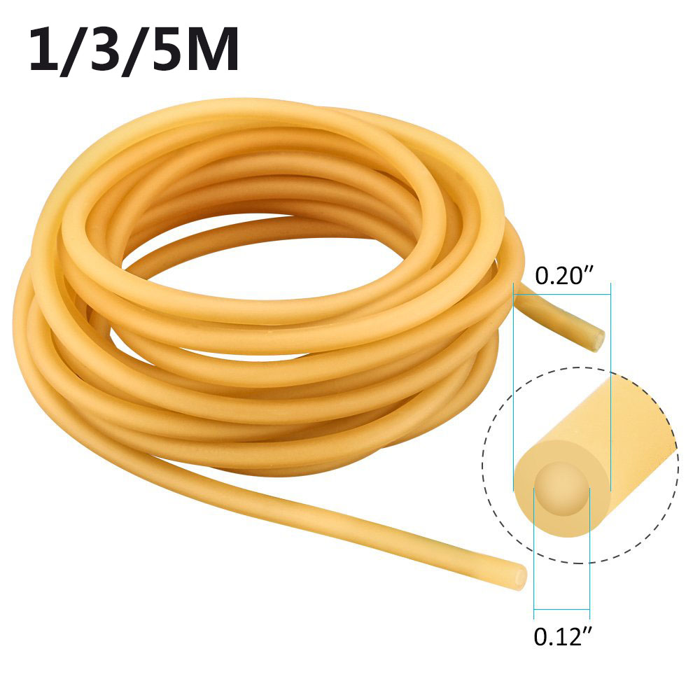 1/3/5M Natural Latex Slingshots Rubber Tube 3mm X 5mm Multi-function Hunting Shooting Bow Fishing Medicine Accessories