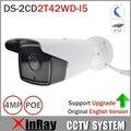 Versão inglês HIK DS-2CD2T42WD-I5 4MP Câmera EXIR IR 50 M Câmera de Rede Bala IP Suporte POE WDR Bala Câmera IP 2688*1520