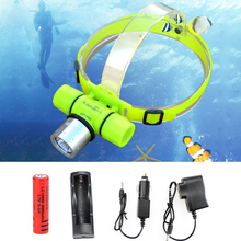 Diving Headlamp CREE XM-Q5 LED Underwater Waterproof Diving Headlight Dive Flashlight IP68 Head Light Lamp Torch cabeza lampara