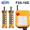 F24 10S F24 10D Industriële Draadloze Radio Afstandsbediening Schakelaar Voor Crane 110V 24V 12V 380V 10 Functie met Emergency 2F1S