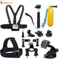 HOMEREALLY accessoire appareil photo monopode tête poitrine Kit pour Sony HDR AS20 AS30V AS100V Yi 4 K Gopro Hero 5/3/3 +/4 SJ4000 SJ6 SJ7 M10