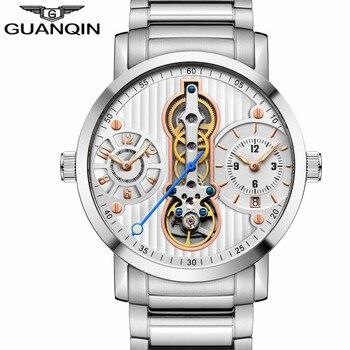 GUANQIN Relogio Masculino Mechanical Tourbillon sapphire Clock Automatic Men Watches Top Brand Luxury watch man Multiple Time On lo ultimo en reloj tourbillon