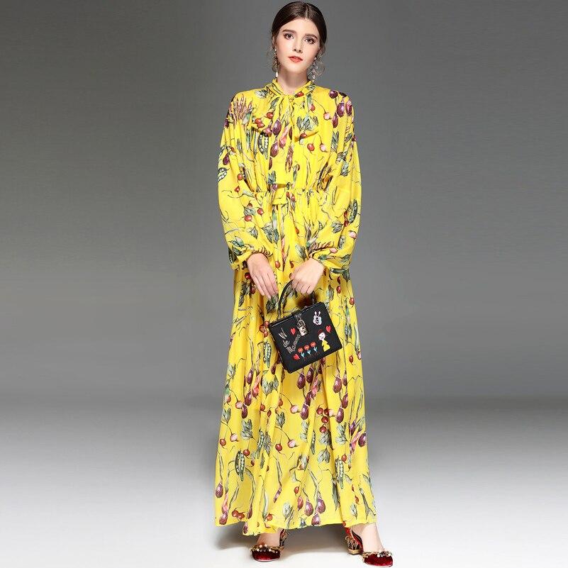 Col Élégance Femmes Mode Pistes Manches Vintage Designer Robe Longues Impression Vacances Bohème Longue À De Casual Arc Maxi hdtsrQC