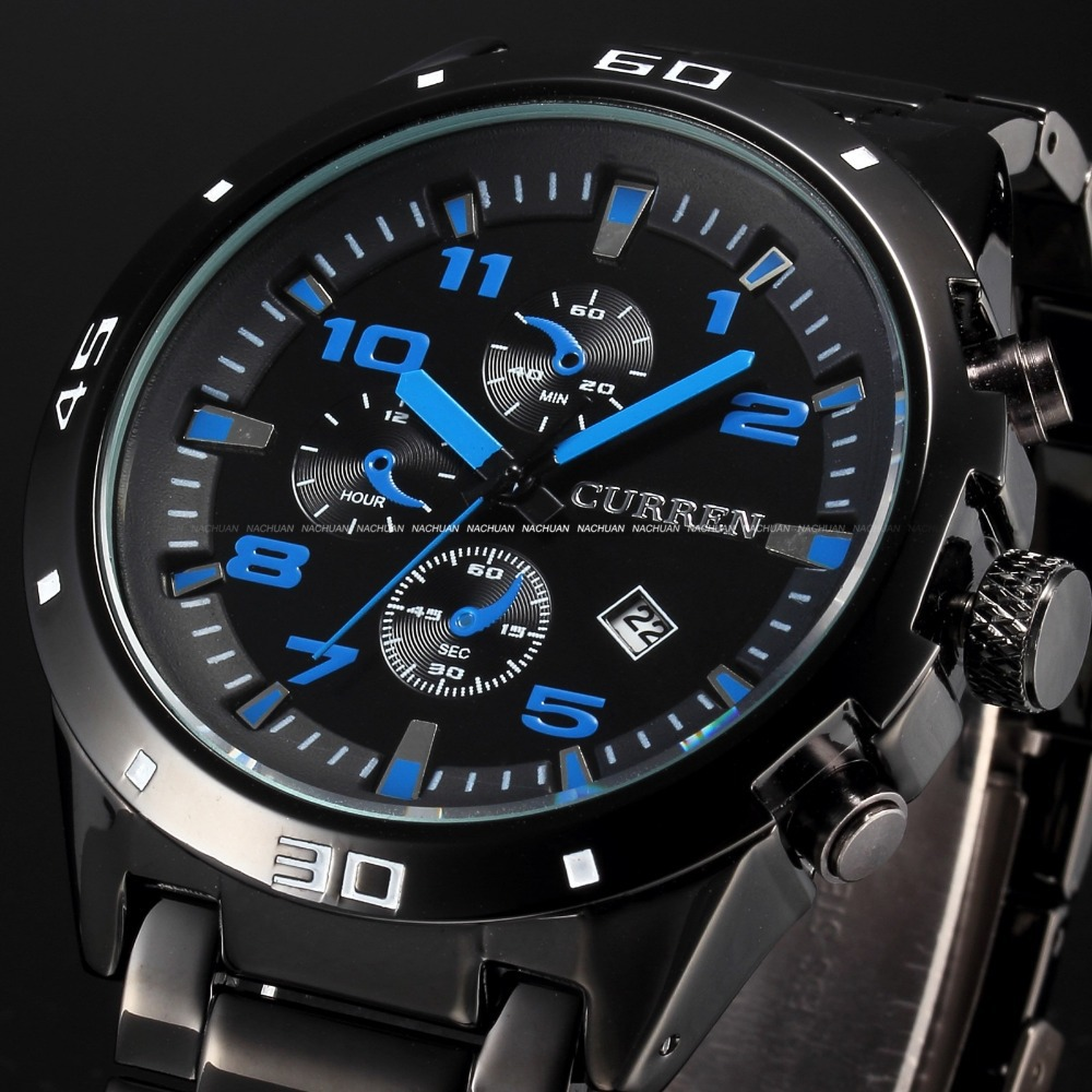 CURREN Luxury Top Brand Watches Men Quartz Fashion Casual Male Sports Watch Date Clock Full Steel Military Wristwatches onlyou brand luxury fashion watches women men quartz watch high quality stainless steel wristwatches ladies dress watch 8892