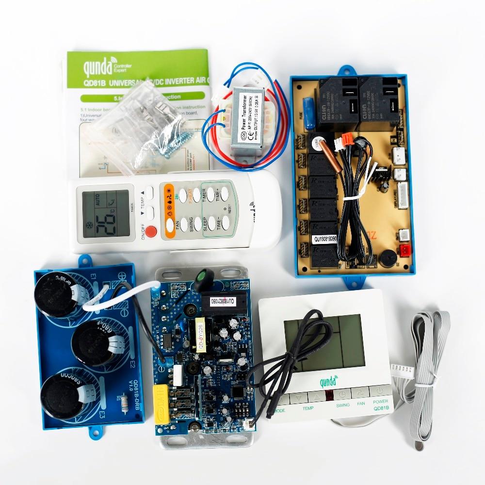 Универсальный напольный D/C A/C инвертор система управления для QUNDA QD81B кондиционер пульт дистанционного управления шкаф