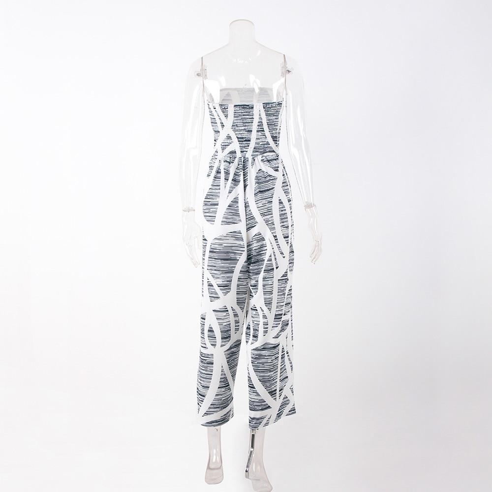 Jaycosin Mode Femmes Bustier Tubulaire Imprimer Avec Un Pantalon à Jambe Large Femme En Plein Air Large Jambe Plage Fête D'été Combinaison MatéRiaux De Choix