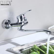Настенный смеситель для кухни Chrome 360 градусов поворотный горячей и холодной водой кран
