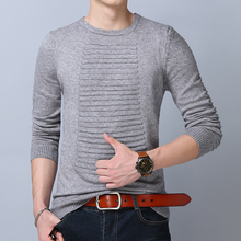 2017 Sweater Men Classic Solid Color Casual O-Neck Mens Sweaters And Pullovers Pure Sweater Pull Homme