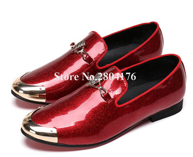 Men Luxury Retro Patent Leather Oxford