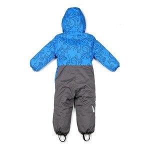 Image 3 - Moomin 2020 new Boys Winter pagliaccetto monopetto ragazzi abiti invernali cappuccio blu geometrico neonato inverno caldo snowsuit
