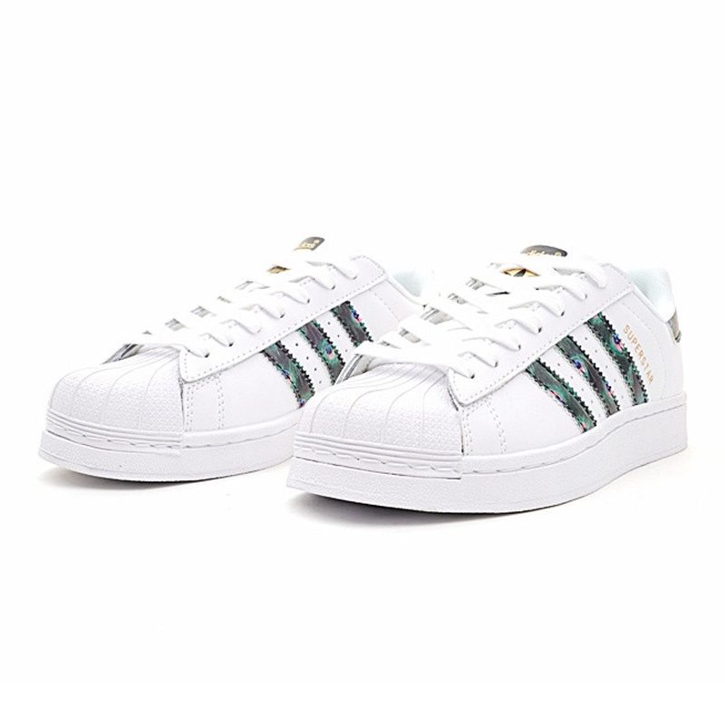 b12341bf4ab6 Adidas Clover Superstar Shell Head Gold Label Women Walking Shoes ...