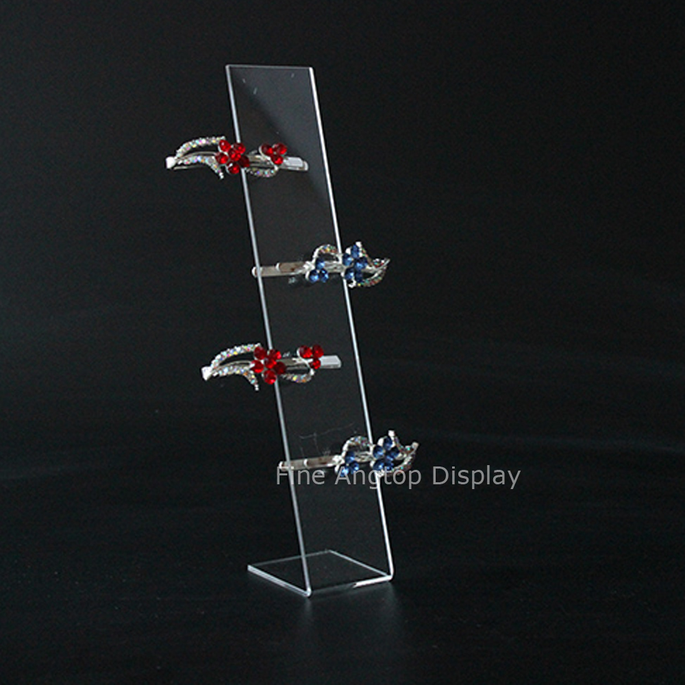 10pcs lot L Shaped Acrylic Hairpin Stand Holder Clear Hair Accessories Jewelry Display Rack Hair Clip