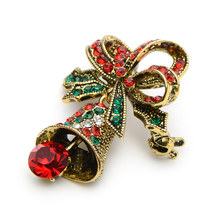 Jingle Bell and Bow Brooch