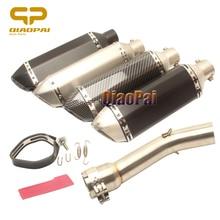 Motorycle Exhaust 370MM Escape Muffler DB Killer for Yamaha Fz1 FZ1N Exhaust System 2006 2007 2008 2009 2010 2011 2012 2013-2015