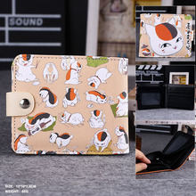 Surprise In This Summer: Anime Natsume Yuujinchou Nyanko Sensei High Quality Synthetic Leather Exquisite Wallet/Button Purse
