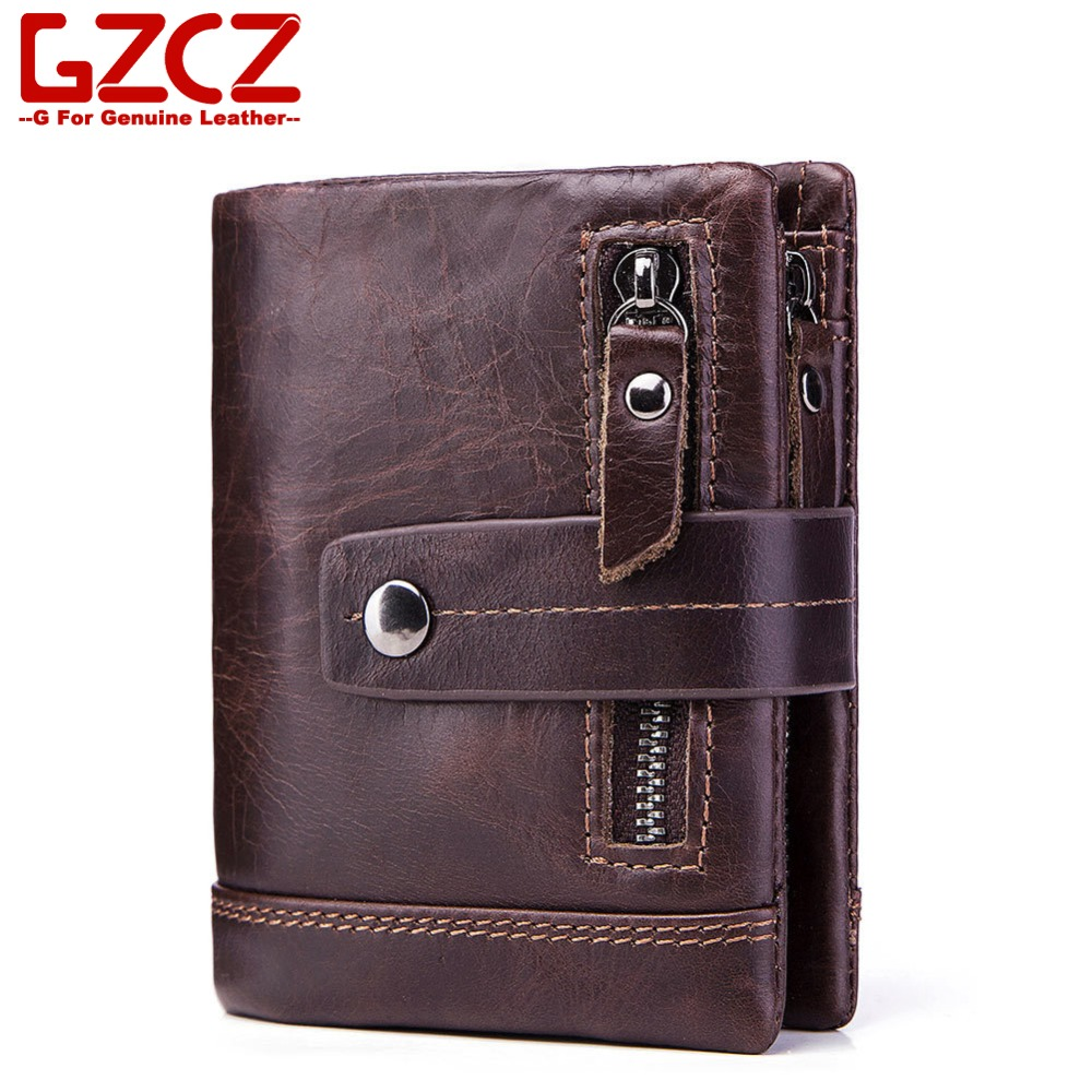 Genuine Wallet Card-Holder Porte Coin-Purse Money-Bags 100%Leather Men for Credit Man