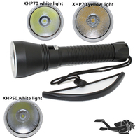 Tactical Diving Flashlight Underwater Waterproof 100M XHP70 4200LM XHP50 2600 Lumens LED Yellow White Light Torch