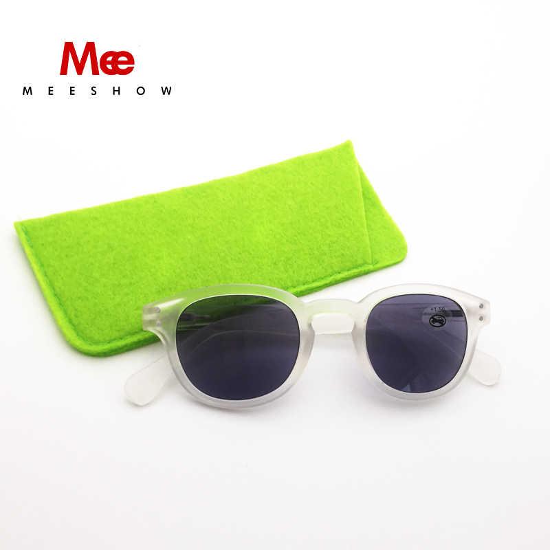 Meeshow 老眼鏡読書品質男性女性眼鏡サングラス UV 保護ギフトボックス Lunettes デ · ソレイユ 1513GP