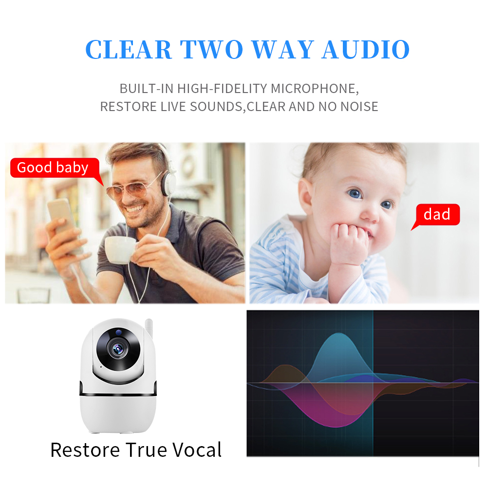 1080P Wireless IP Camera Cloud Intelligent Auto Tracking Baby PTZ Home Security Surveillance CCTV Network Mini Wifi Camera in Surveillance Cameras from Security Protection