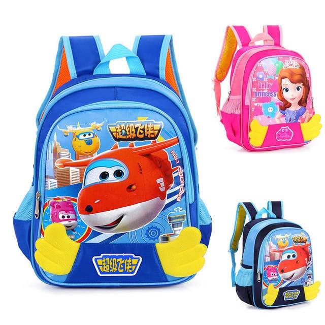 New 2017 Top Quality Cute Sofia Girls Schoolbag Cartoon Princess Children School Bags For Boys Kindergarten School Backpacks