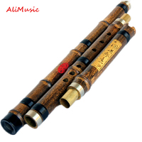 Professional Chinese Vertical Bamboo Flute Xiao Natural Woodwind musical instrument 8 Hole Key of F or G flauta with Leather Bag