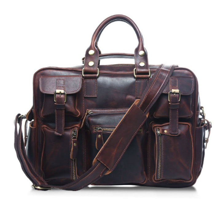 new Designer Brand New Arrival Men's Briefcase Business Shoulder Bag Genuine Cowhide Handbags Vintage Retro Men Messenger Bags designer brand new arrival men s shoulder bag genuine casual cowhide leather handbags bussiness vintage retro men messenger bag