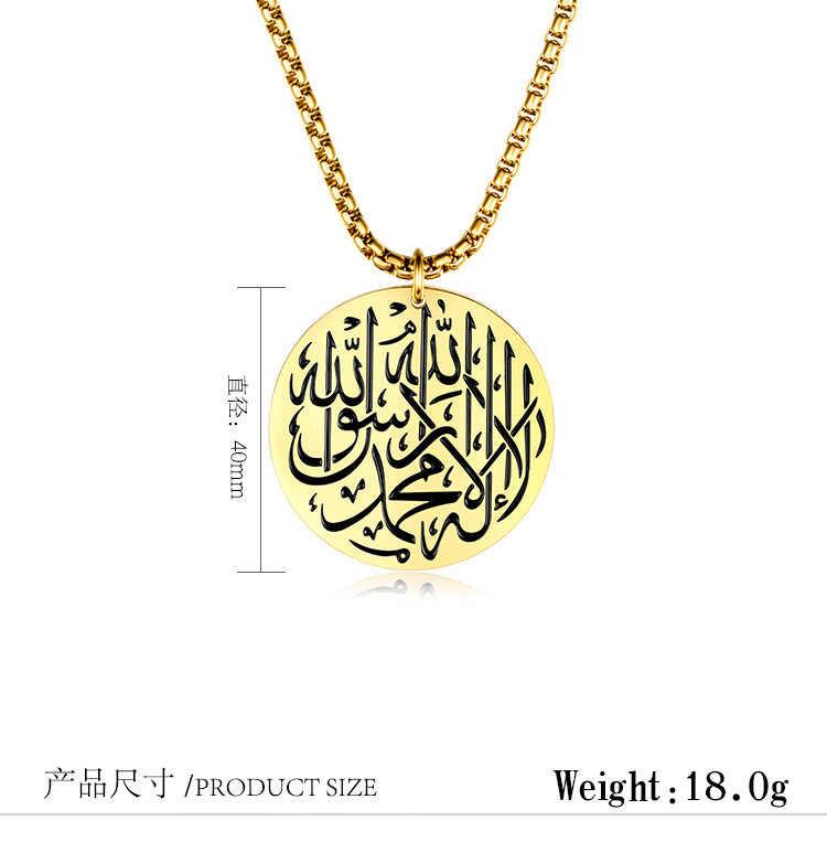 Thép titan Hồi Giáo Mặt Dây Chuyền Halal Allah Tag Châu Âu và Mỹ Hồi Giáo Nổi Tiếng Tôn Giáo Necklace & pendant Đối Với Người Đàn Ông