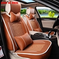 4 Colors Adjustable bench cover and front cover car seat covers 4 seasons universal fit healthy car cushions free shipping