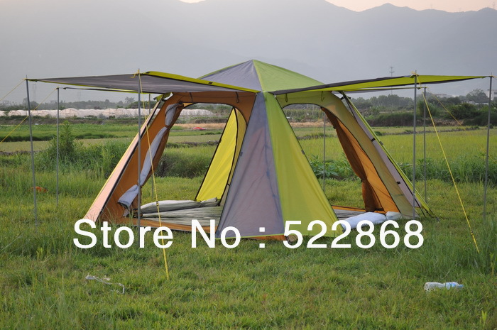 2013 new style high quality 3-4 people rainproof windproof double layer party/family camping tent