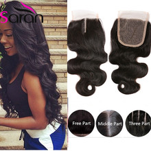 Side Part Closure Malaysian Body Wave Closure 100% Virgin Ms Lula Curved Closure 4×4 Free Middle 3 Part Body Wave Lace Closure