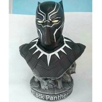 Avengers:Infinity War Superhero Black Panther Bust 1/2 Statue T'Challa Action Figure DC Comics Collectible Model Toy L2073