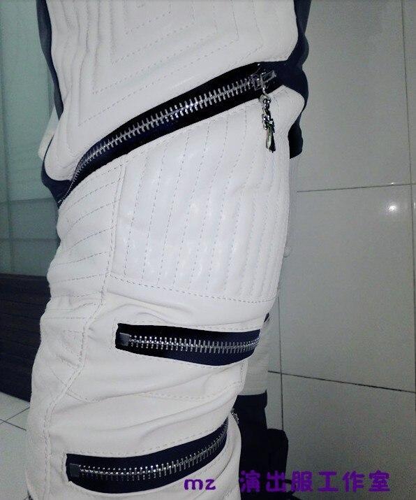 ¡s Moda Con ¡2019 Marca Color Los Envío Gratis Cremallera Hombres Cantante De 5xl Cuero Clohitng Blanco La Trajes Nuevo Pantalones Negro Y qcqCw0WAr