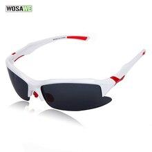 WOLFBIKE New Polarized Lenses Bike Bicycle Cycling Glasses Sports Sunglasses Eyewear Racing Goggle White Sun Glasses 1 lens