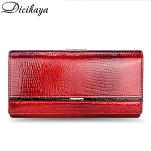 Image 2 - DICIHAYA Genuine Leather Women Wallet Multifunction Womens Clutch Wallets Brand Purses Femme Billetera Card Holder Phone Bag
