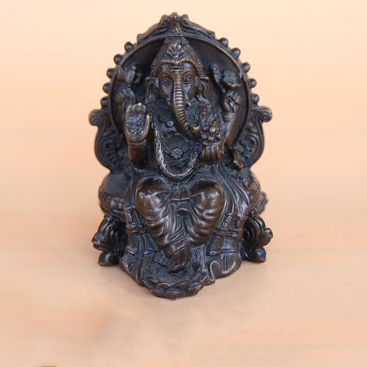 100% laiton grand-père grand-mère bonne chance chine vieux travail manuel sculpture Dragon Statue canne tête bâton de marche