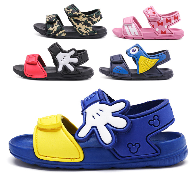 2018 Summer New Childrens Sandals Fashion Cartoon Boys and Girls Wild Open-toed Beach Shoes
