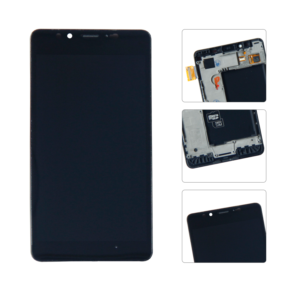 For Microsoft Nokia <font><b>Lumia</b></font> <font><b>950</b></font> RM-1105 RM-1104 LCD Display Touch Screen Digitizer Full Assembly Replacement <font><b>Parts</b></font> +Frame image