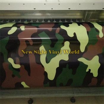 Military Jungle Large Camouflage Vinyl Car Film Sticer Bubble Free For JEEP SUV TRUCK