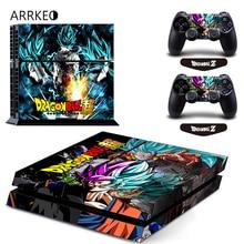 ARRKEO Dragon Ball Супер Сон Гоку виниловая Обложка Наклейка PS4 кожа для sony playstation 4 консоль и 2 контроллера Защитная Наклейка