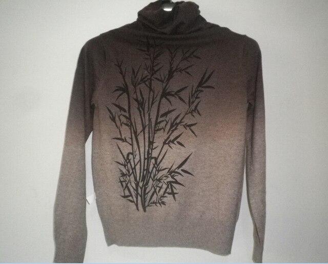 Осень и зима мода дерево печать женщин с длинным рукавом кашемировый свитер