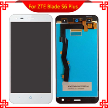 Original Quality LCD Display For ZTE Blade S6 Plus With Touch screen digitizer touchscreen panel sensor lens glass Assembly Free lcd display touch screen for prestigio muze e3 psp3531duo psp3531 muze d3 psp3530 digitizer panel sensor lens glass assembly