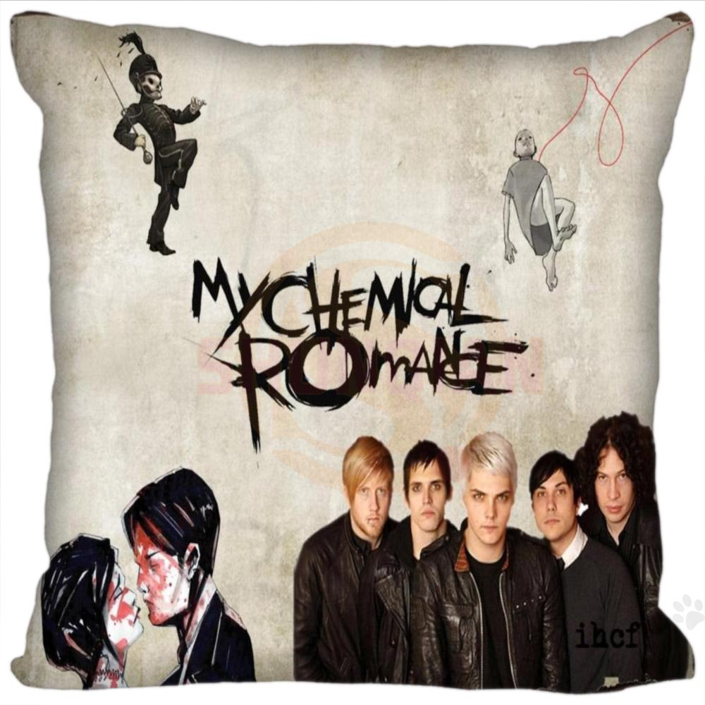 H+P#300 New Hot Custom Pillowcase my chemical romance #2 soft 45x45 cm (One Side) Pillow Cover Zippered SQ01003@H0300