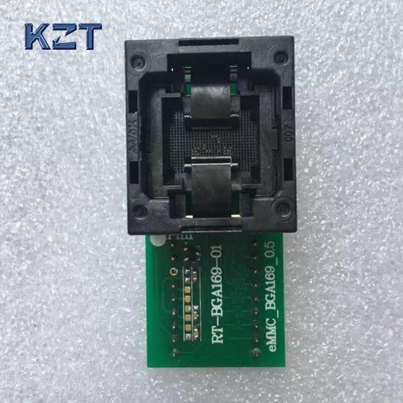 все цены на  New Open Top RT-BGA169-01 V1 BGA169/153 eMCP reader test socket size 11.5*13mm programmer adapter For RT809H Programmer  онлайн