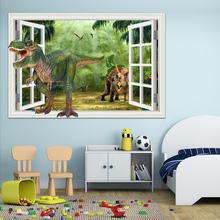 3d Wall Sticker  Cartoon Dinosaur Panda Shark Decals 3D Wall Decal Nursery Wall Art Home Decor Poster Stickers for Baby Room