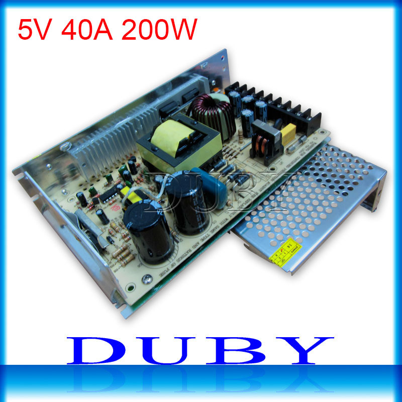 Big volume 5V 40A 200W Switching power supply Driver For LED Light Strip Display Factory Supplier 201w led switching power supply 85 265ac input 40a 16 5a 8 3a 4 2a for led strip light power suply 5v 12v output