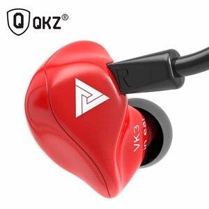 Image 1 - Оригинальные проводные наушники вкладыши QKZ VK3, наушники вкладыши 3,5 мм, спортивные Микронаушники для iPhone, Xiaomi с микрофоном