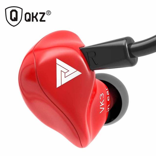 Оригинальные проводные наушники вкладыши QKZ VK3, наушники вкладыши 3,5 мм, спортивные Микронаушники для iPhone, Xiaomi с микрофоном
